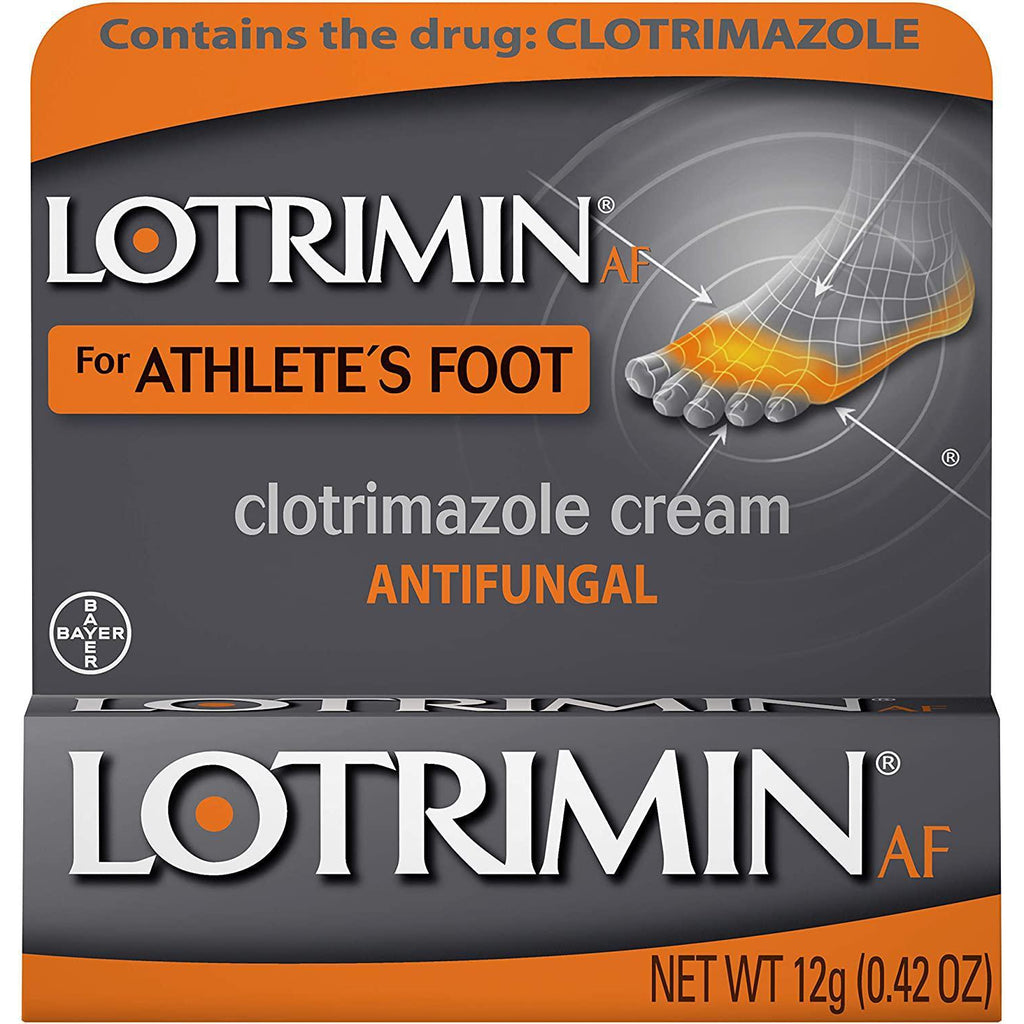 Lotrimin AF Cream for Athlete's Foot, Clotrimazole 1%, 0.42 Ounce