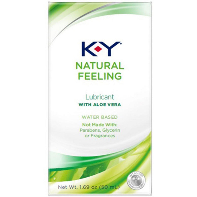 3 Pack - K-Y Natural Feeling Personal Lubricant With Aloe Vera, Water Based & Free From Harmful Chemicals 1.69 oz