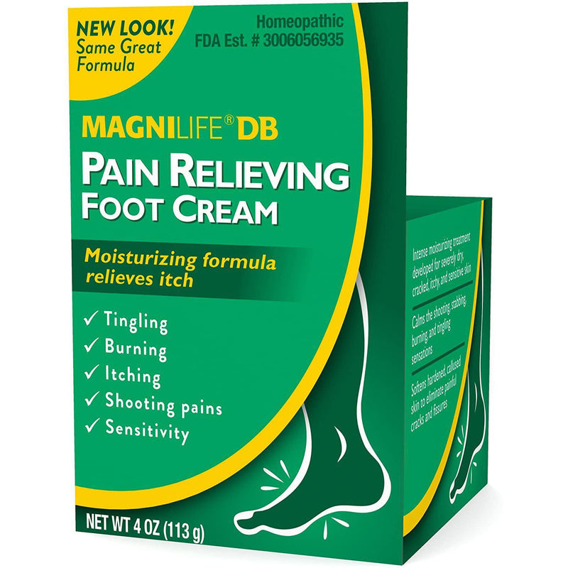 MagniLife DB Pain Relieving Foot Cream - 4 Oz