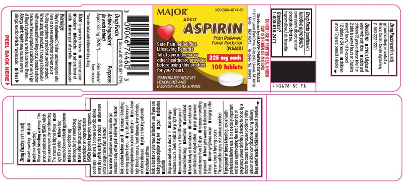 Major Aspirin Tabs (325mg)- 100 count