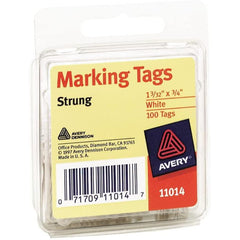 Avery Marking Tags, Strung, 1.09 x 0.75 Inches, Pack of 100