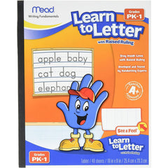 Mead Learn to Letter with Raised Ruling Writing Tablet, 8