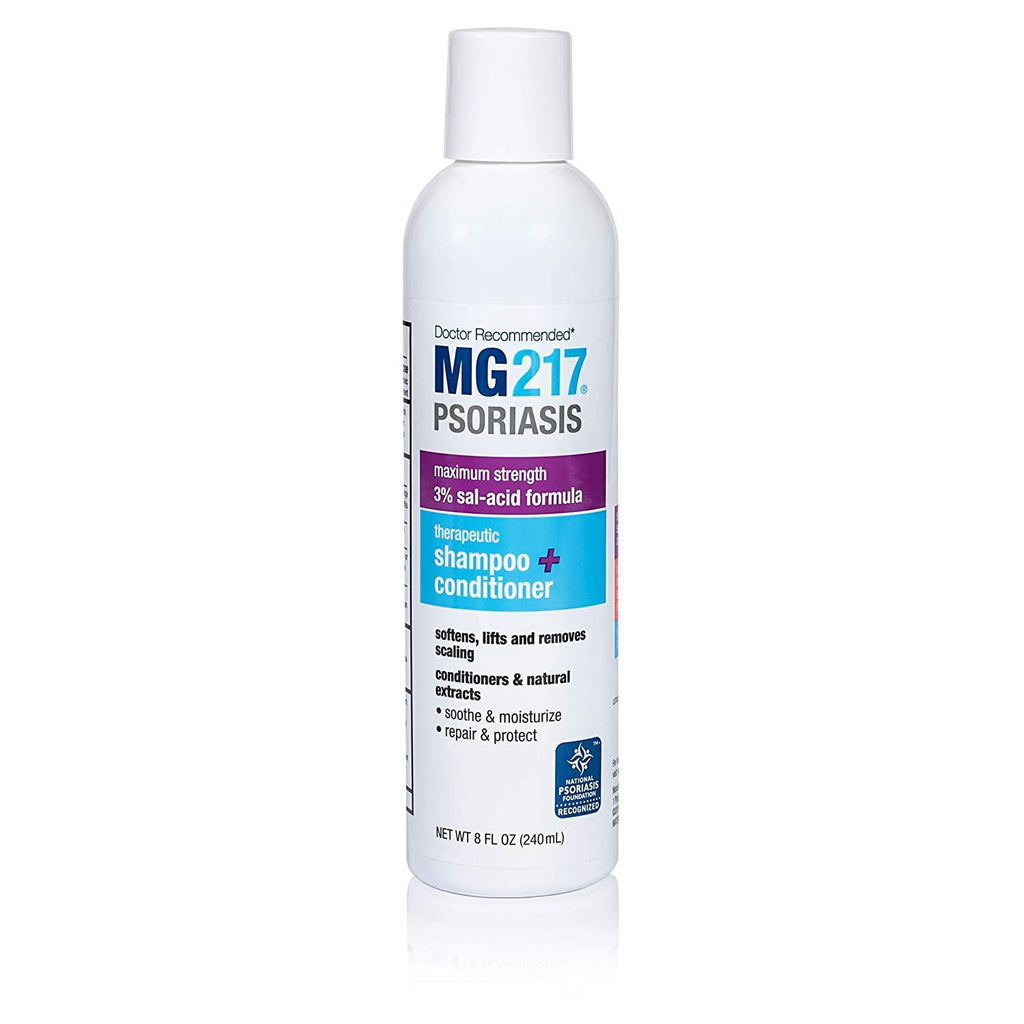 MG217 Psoriasis 3% Salicylic Acid Therapeutic 2 in 1 Shampoo and Conditioner, 8 oz