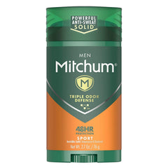 Mitchum Deodorant Stick, Triple Odor Defense Invisible Solid, 48HR Protection - 2.7 oz