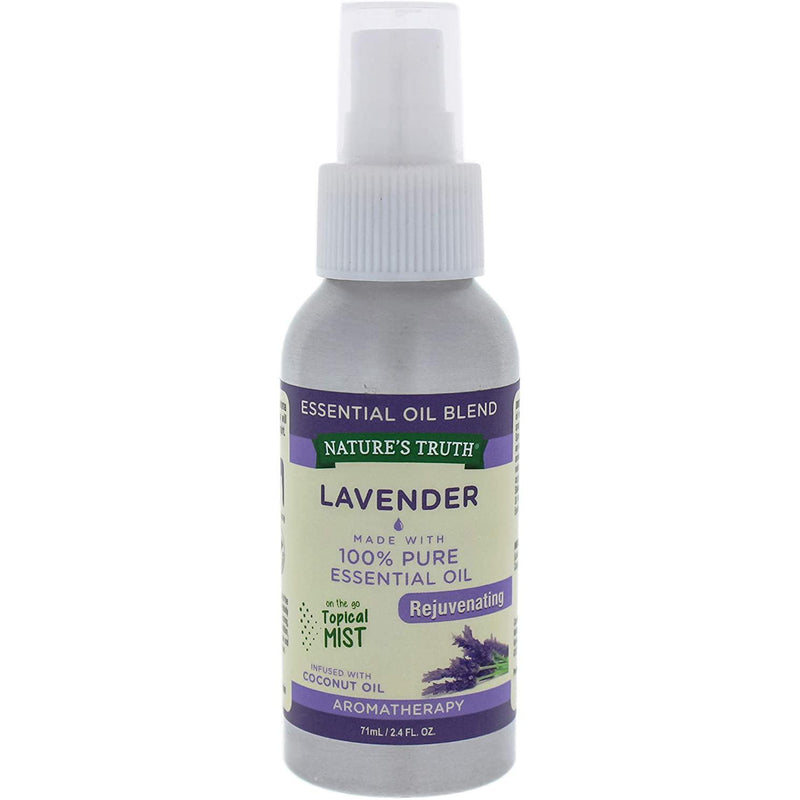 Nature's Truth Lavender Rejuvenating Mist Aromatherapy Essential Oil Blend, 2.4 oz