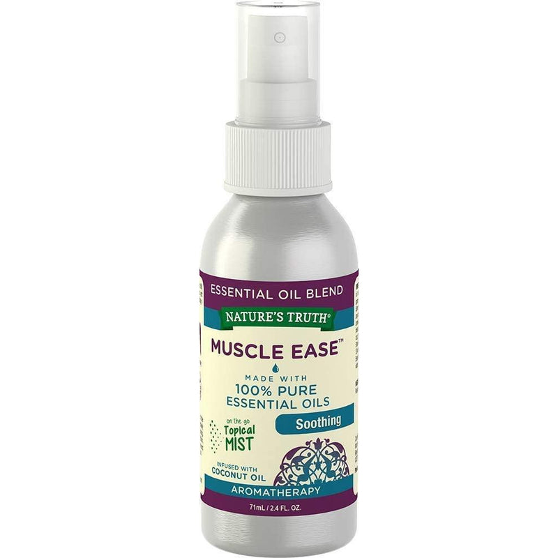 Nature's Truth Muscle Ease Soothing Mist Aromatherapy Essential Oil Blend, 2.4 oz