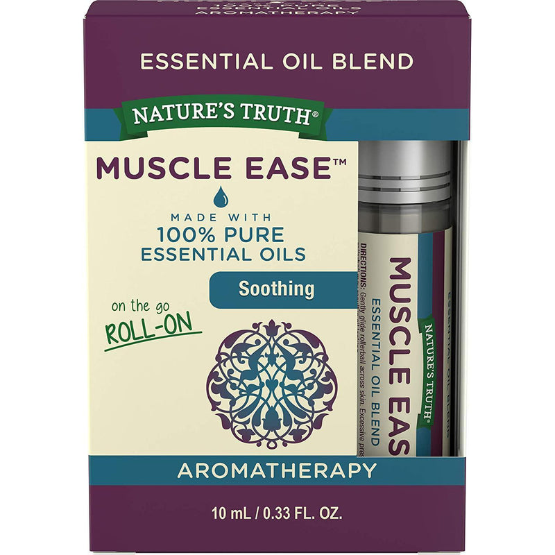 Nature's Truth Essential Oil Roll-On Blend, Muscle, 0.33 Fluid Ounce
