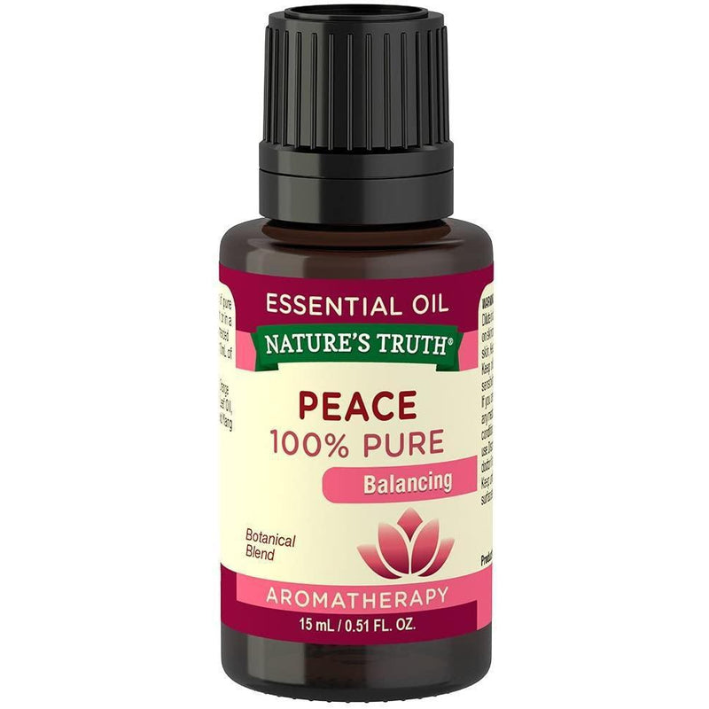 Nature's Truth Balancing 100% Pure Essential Oil, Peace, 0.51 Fluid Ounce