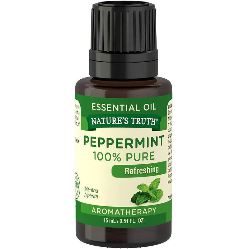 Nature's Truth Refreshing 100% Pure Essential Oil, Peppermint, 0.51 Fluid Ounce