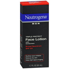 Neutrogena Men Triple Protect Face Lotion with Sunscreen SPF 20 - 1.70 oz