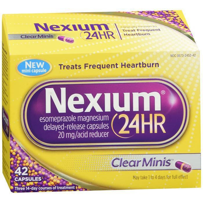 Nexium 24HR Clear Minis - 42 count