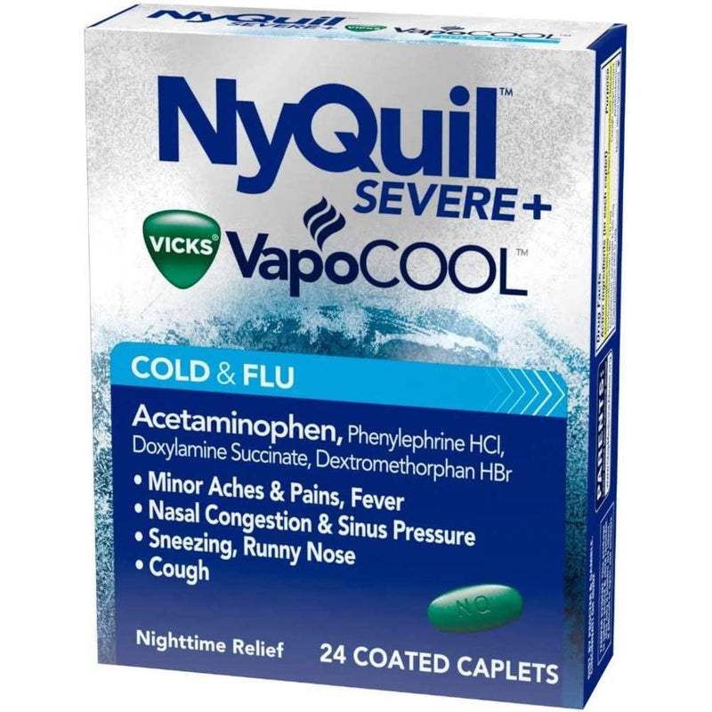 NyQuil Severe Cold & Flu Caplets - 24 Count