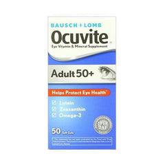 Ocuvite Adult 50 Plus Eye Vitamin And Mineral Supplement, Soft Gels, 50 Softgels