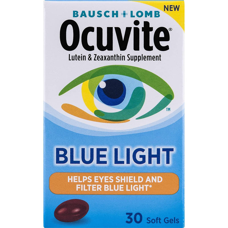 Bausch + Lomb Ocuvite Blue Light Vitamin & Mineral Supplement with Lutein and Zeaxanthin, Soft Gels, 30-Count