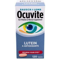 Bausch + Lomb Ocuvite Vitamin & Mineral Supplement Tablets with Lutein, 120 Count