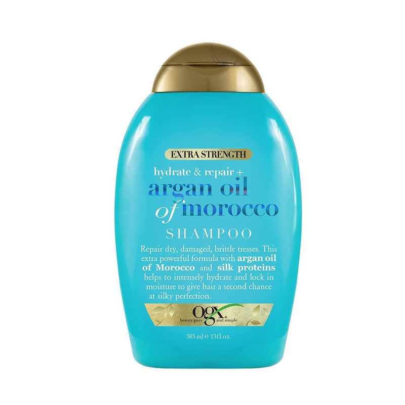 OGX Hydrate and Repair + Argan Oil of Morocco Extra Strength Shampoo, 13 Fl Oz.