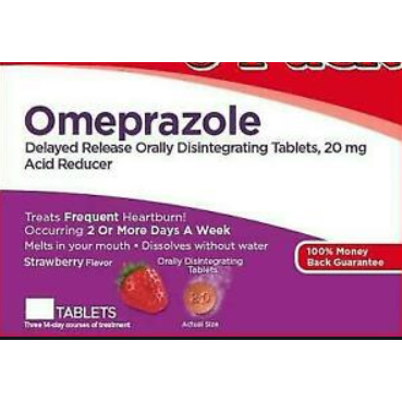 Leader Omeprazole Delayed Release Orally Disintegrating Tablets - 14 count