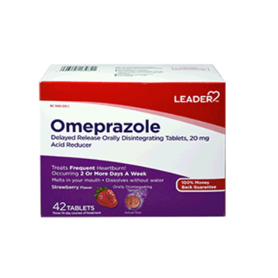 Leader Omeprazole Delayed Release Orally Disintegrating Tablets - 42 count
