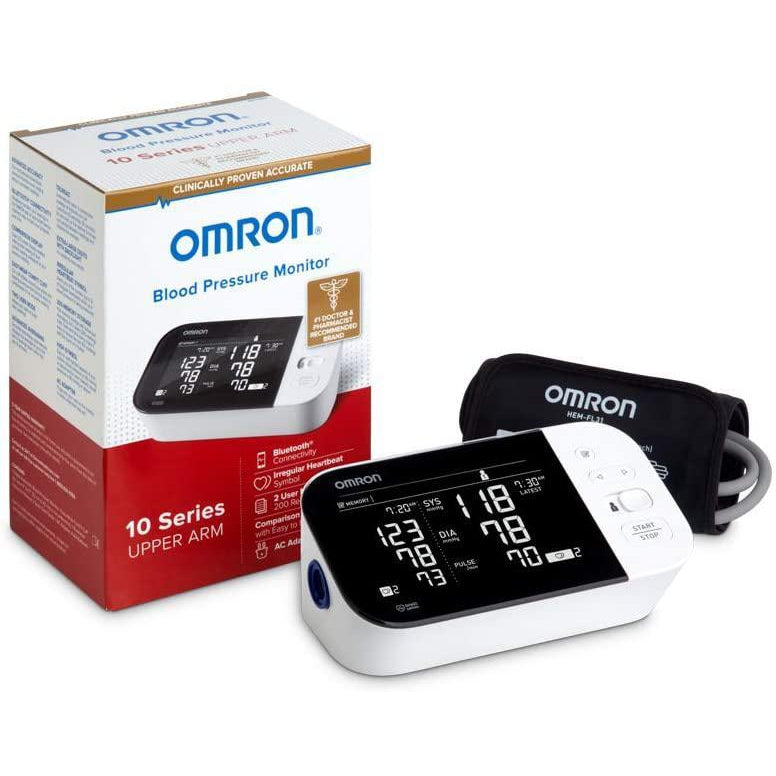 Omron 10 Series Wireless Upper Arm Blood Pressure Monitor, 1 Count