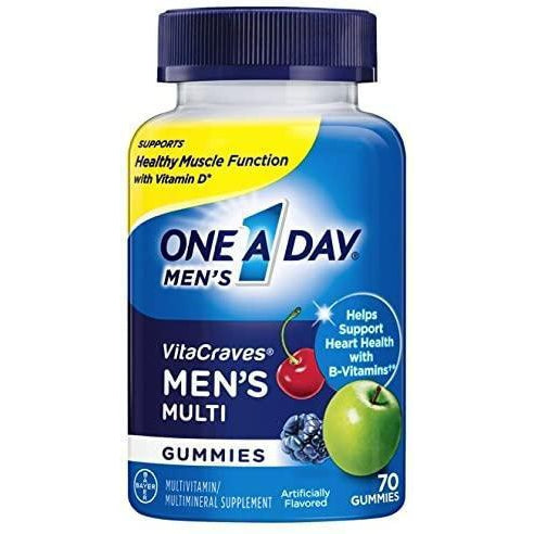 One A Day Men's VitaCraves Multivitamin Gummies, 80 gummies