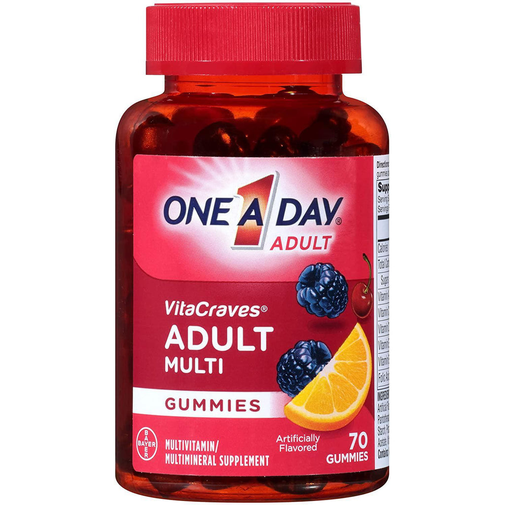 One A Day VitaCraves Adult Multivitamin Gummies, 70 gummies