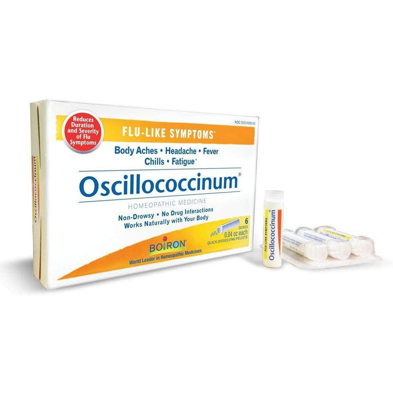 Boiron - Oscillococcinum Quick-Dissolving Pellets for Flu-Like Symptoms, 6 Doses