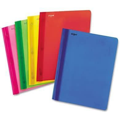 Oxford Clear Front Poly Report Cover, Assorted Colors, 1 Count