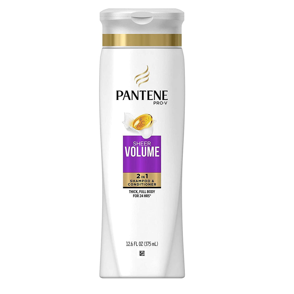 Pantene Pro-V 2 in 1 Shampoo & Conditioner, Sheer Volume with Collagen, 12.6 Ounce