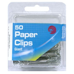 Paper Clips, Giant, 50 Count