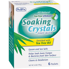 Pedifix Soaking Crystals Foot Bath, 6 Packets, 1 Ounce per Packet