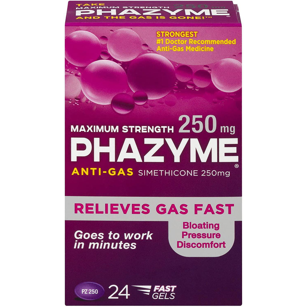 Phazyme Maximum-Strength Gas and Bloating Relief - 24 count