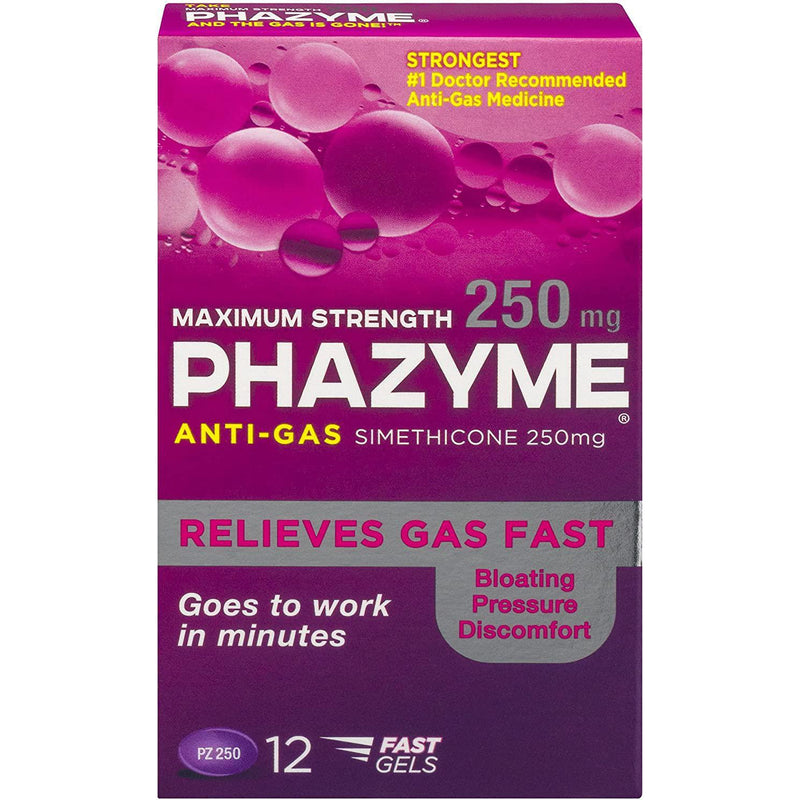 Phazyme Maximum-Strength Gas and Bloating Relief - 12 count