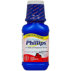 Phillips' Concentrated Milk of Magnesia Saline Laxative, Fresh Strawberry - 8 oz