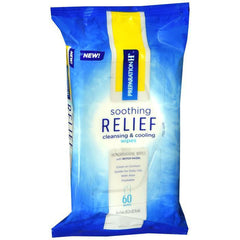 Preparation H Soothing Relief Cleaning and Cooling Wipes, 60-Count Pack