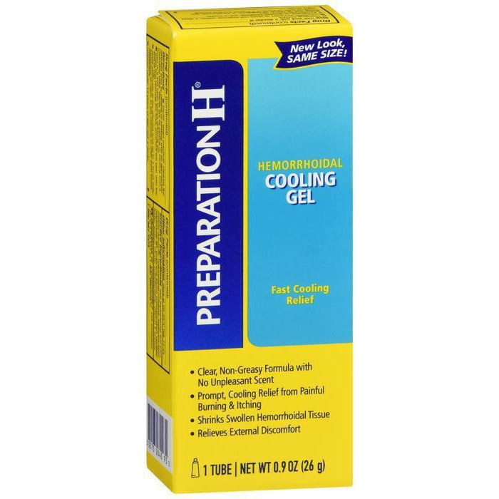 Preparation H Hemorrhoid Symptom Treatment Cooling Gel - 0.9 oz Tube