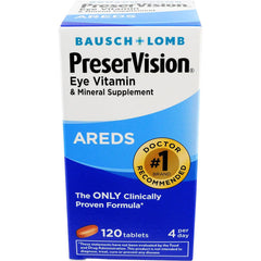 Bausch + Lomb PreserVision Vitamin and Mineral Supplement Tablets, 120 Count