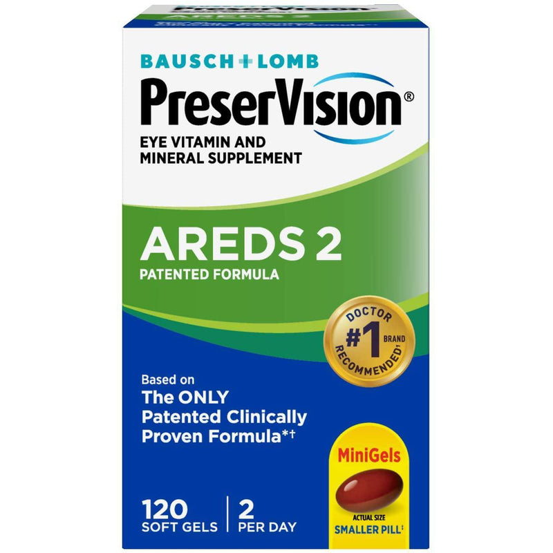 PreserVision AREDS 2 Vitamin & Mineral Supplement 120 Count Soft Gels,