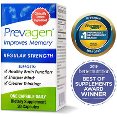 Prevagen Improves Memory - Regular Strength 10mg with Apoaequorin & Vitamin D, 30 Capsules