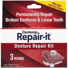 Dentemp Repair-it Denture Repair Kit, 3 Repairs