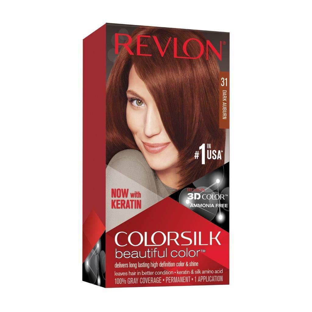 Revlon Color Silk Hair Color, [31] Dark Auburn, 1 COUNT