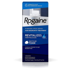 Men's Rogaine 5% Minoxidil Foam for Hair Loss and Hair Regrowth, Topical Treatment for Thinning Hair, 1-Month Supply
