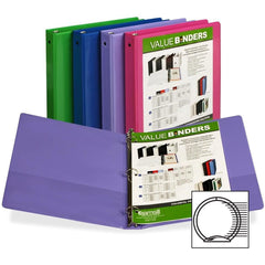 Samsill Economy 2-Pocket Round Ring View Binders, 1