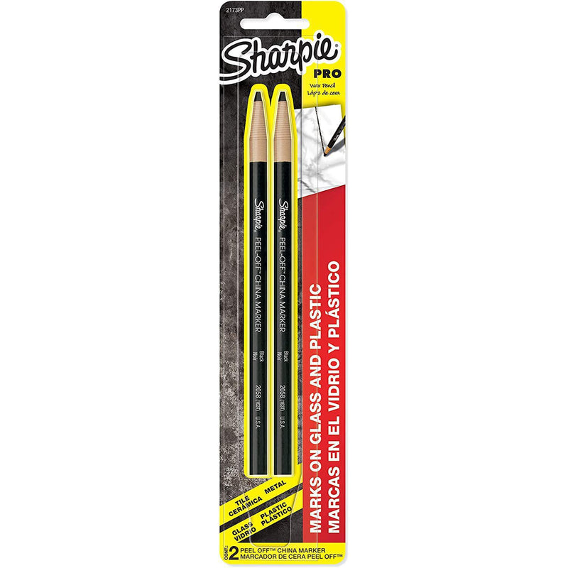 Sharpie Peel-Off China Markers, Black, 2-Count