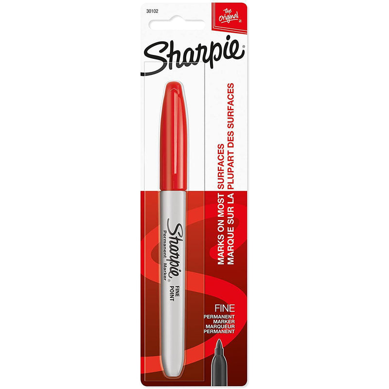 Sharpie Permanent Marker, Fine Point Ink, Red, 1 Count