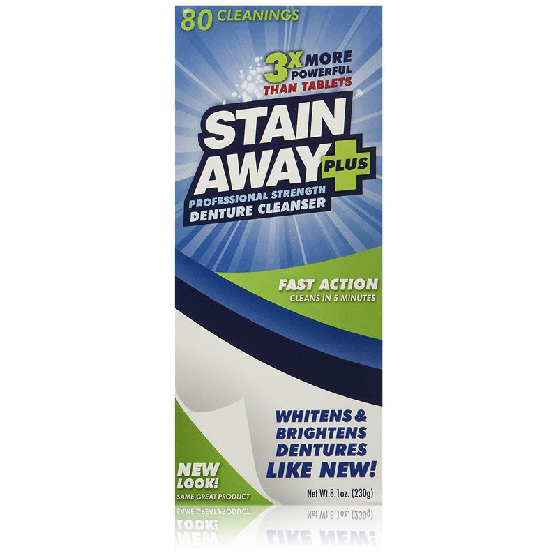 Stain Away Plus Denture Cleanser - 8.1 Oz