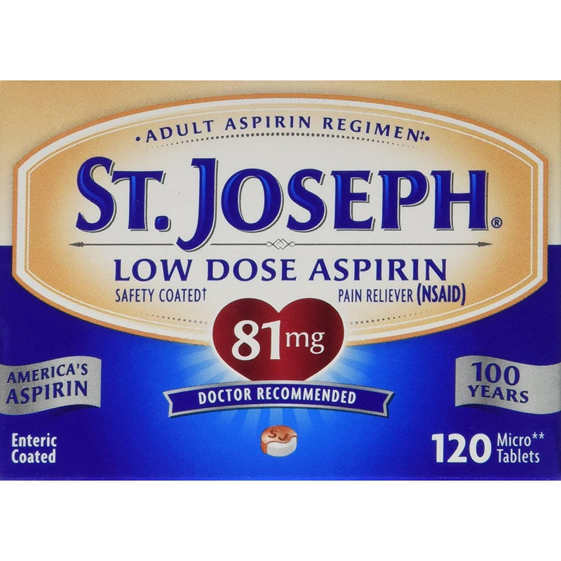 St. Joseph Low Dose Aspirin, 81mg, 120 Tablets