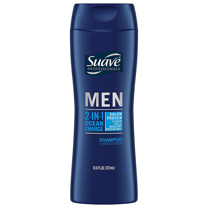 Suave Men 2 in 1 Shampoo and Conditioner, Ocean Charge, 12.6 Ounce