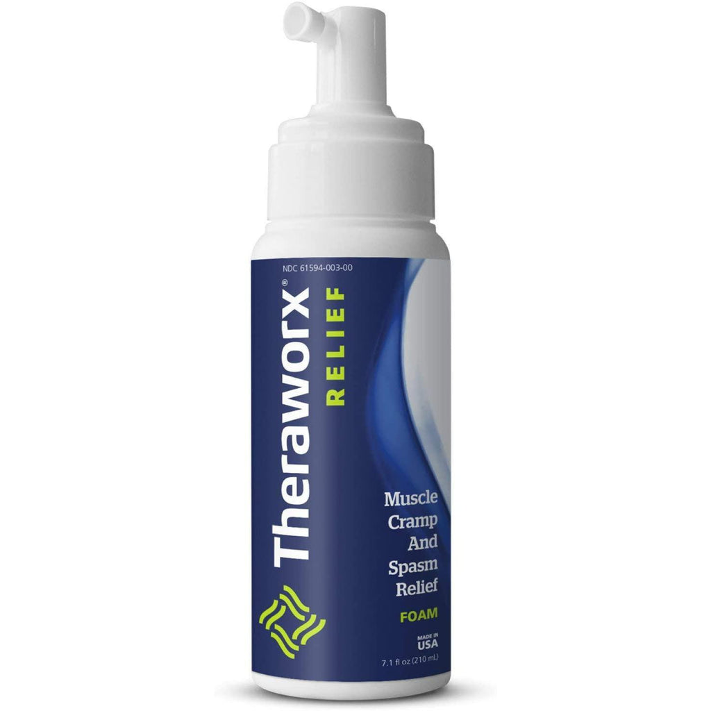 Theraworx Relief Fast-Acting FOAM for Leg Cramps, Foot Cramps and Muscle Soreness, 7.1 oz.