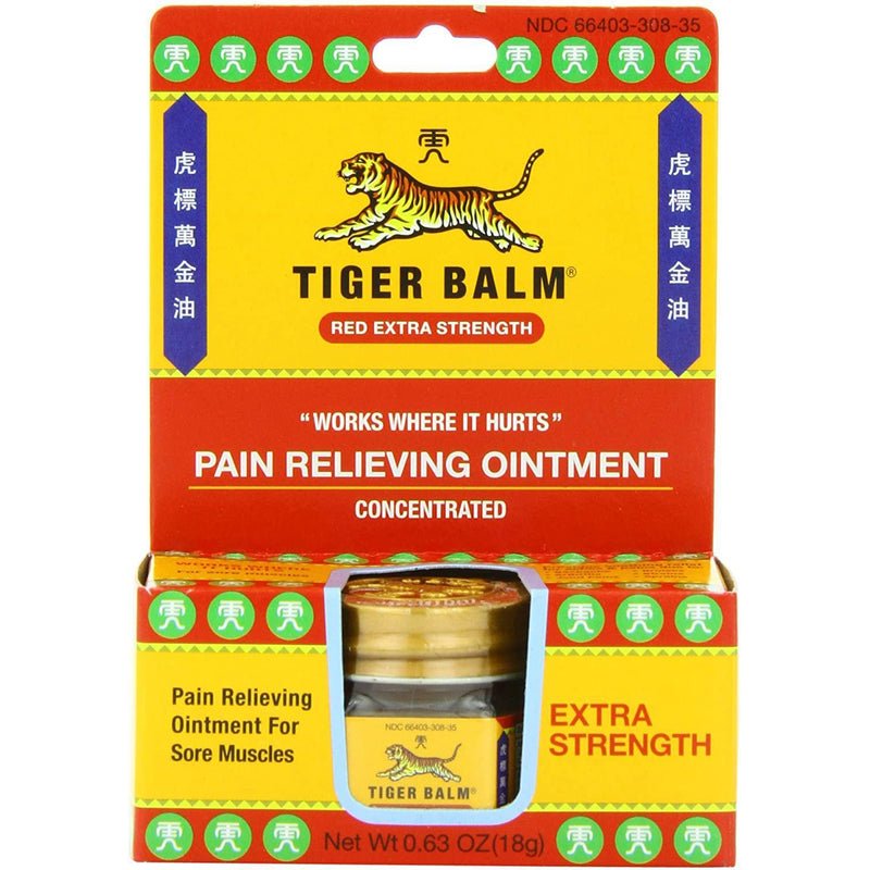 Tiger Balm Pain Relieving Ointment, Extra Strength, 0.63 Oz.