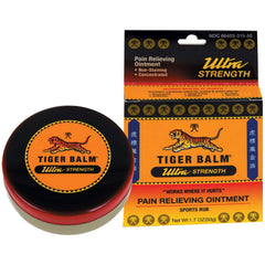 Tiger Balm Pain Relieving Ointment, Ultra Strength, 0.63 Oz.